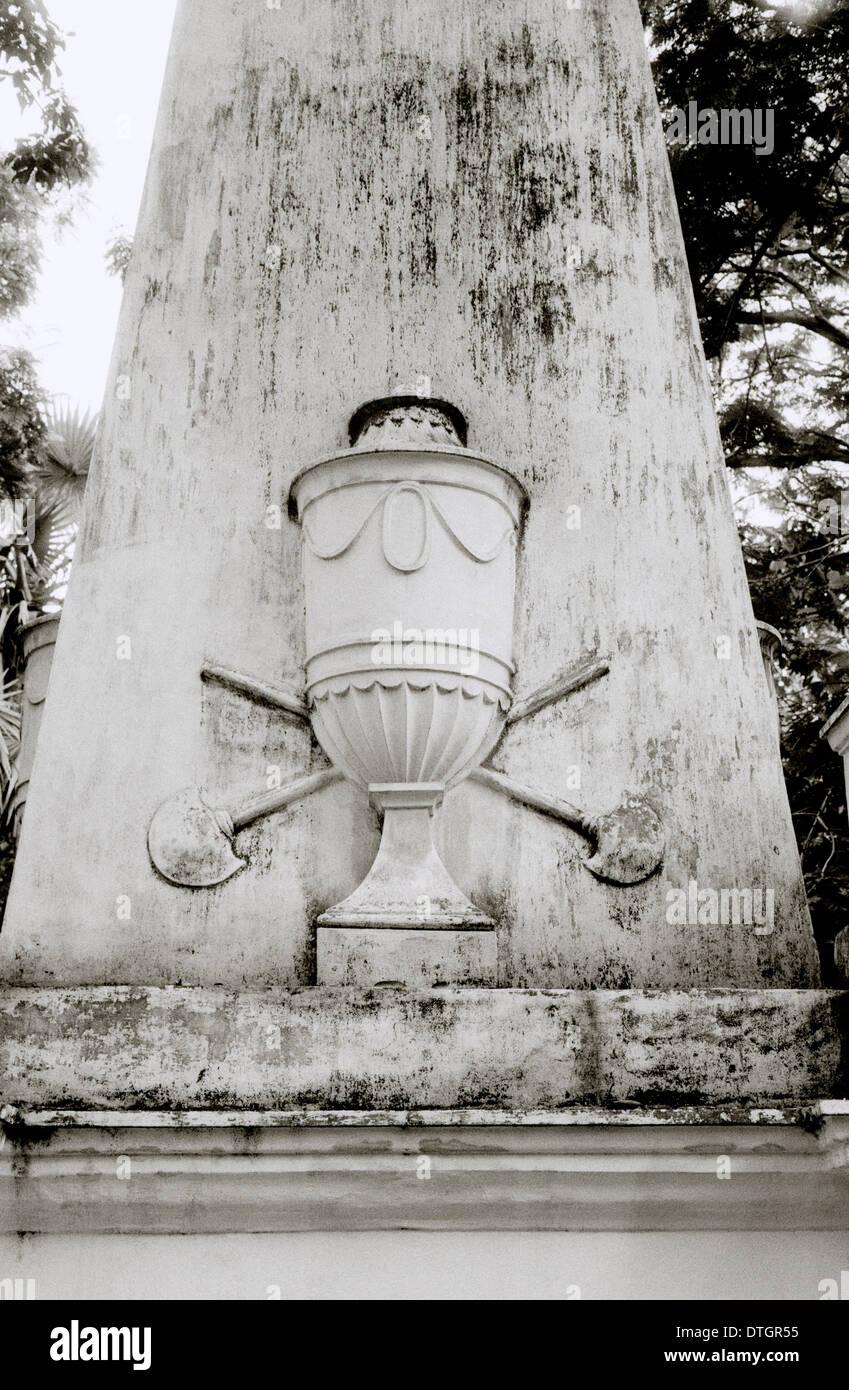 Park Street Cemetery à Kolkata Calcutta dans le Bengale occidental en Inde, en Asie du Sud. Cimetières de l'Histoire Culture Historique Sérénité Voyage indien Photo Stock