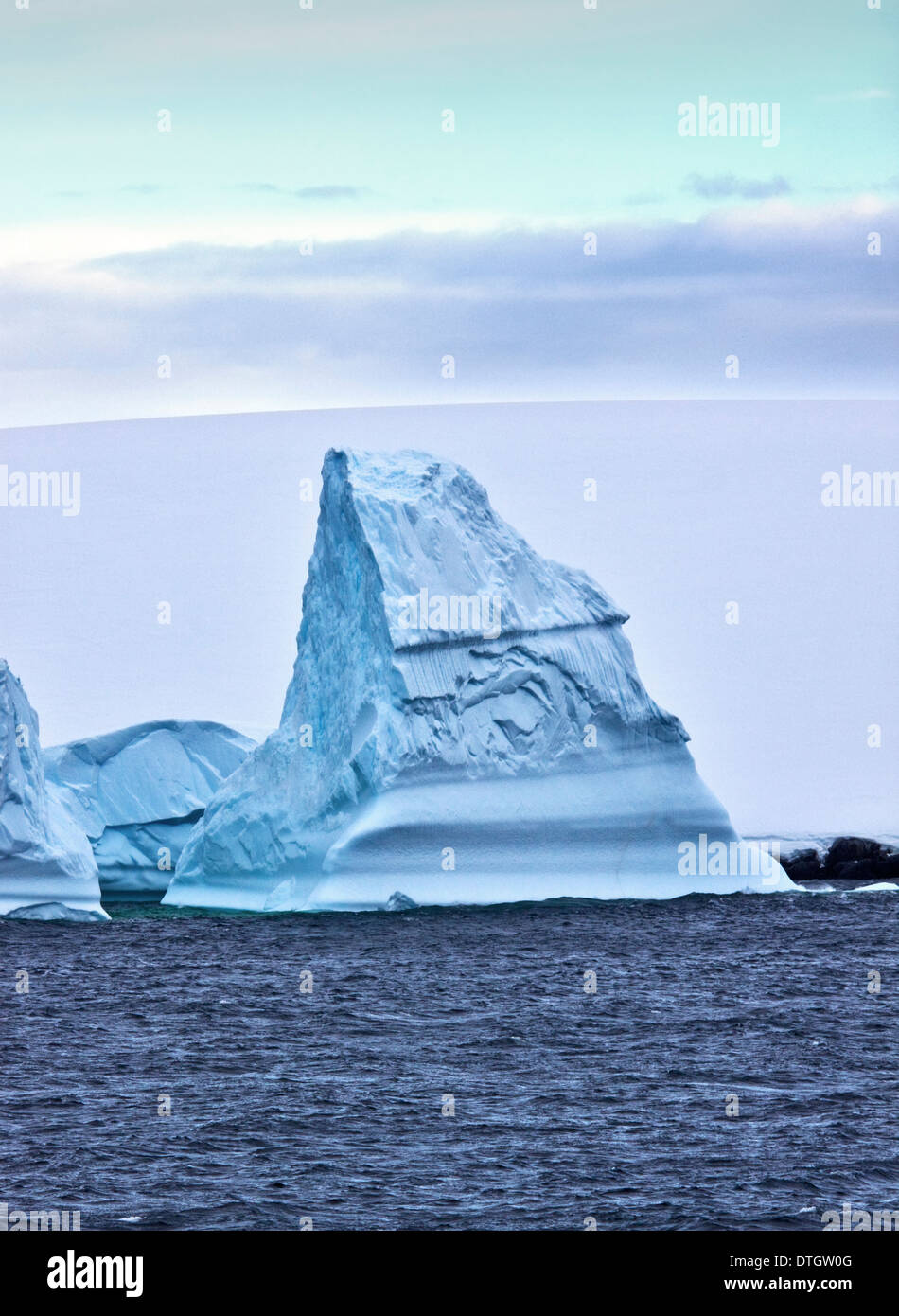 Le détroit de Gerlache, Iceberg, Péninsule Antarctique Photo Stock