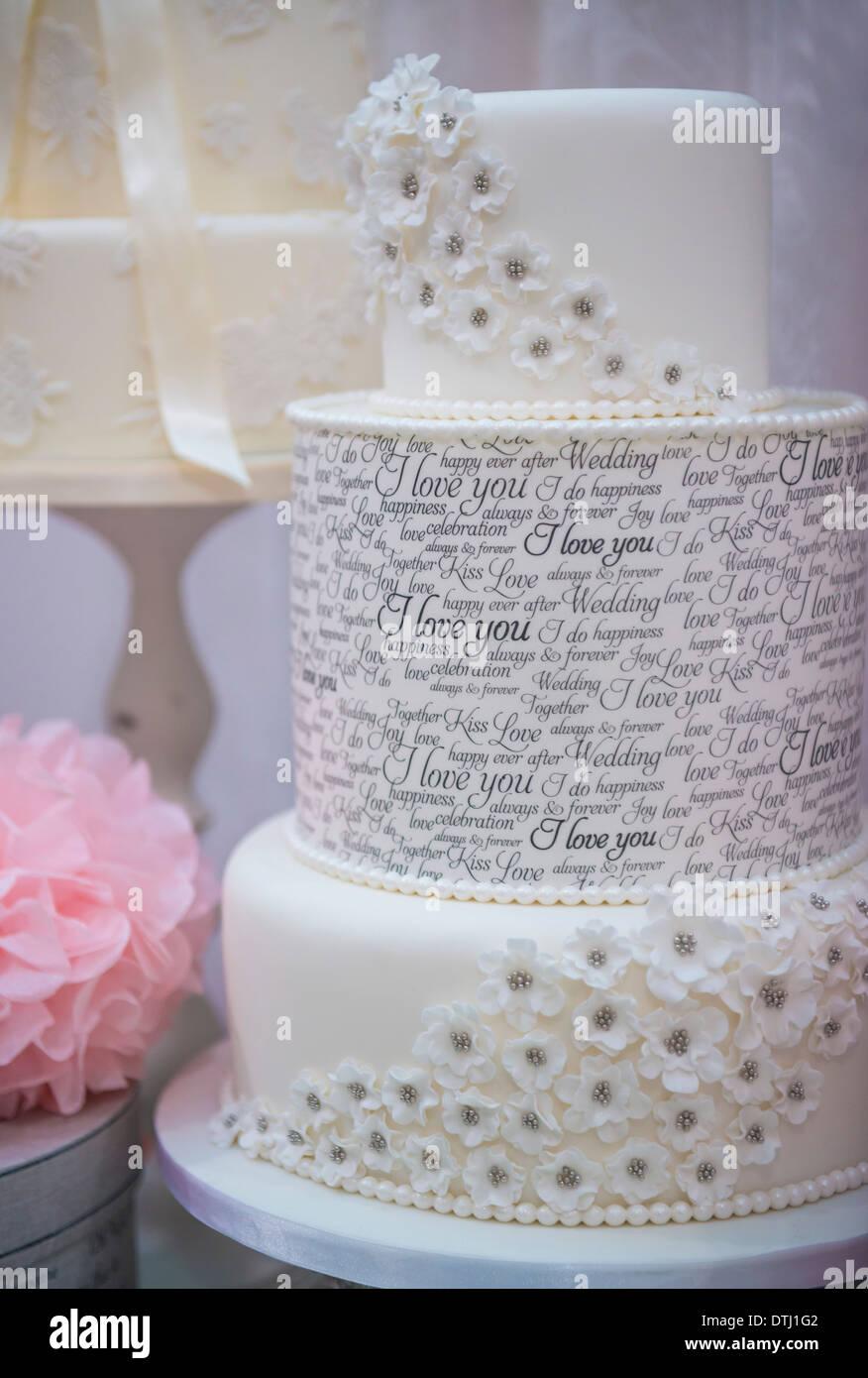 Un gâteau de mariage Photo Stock