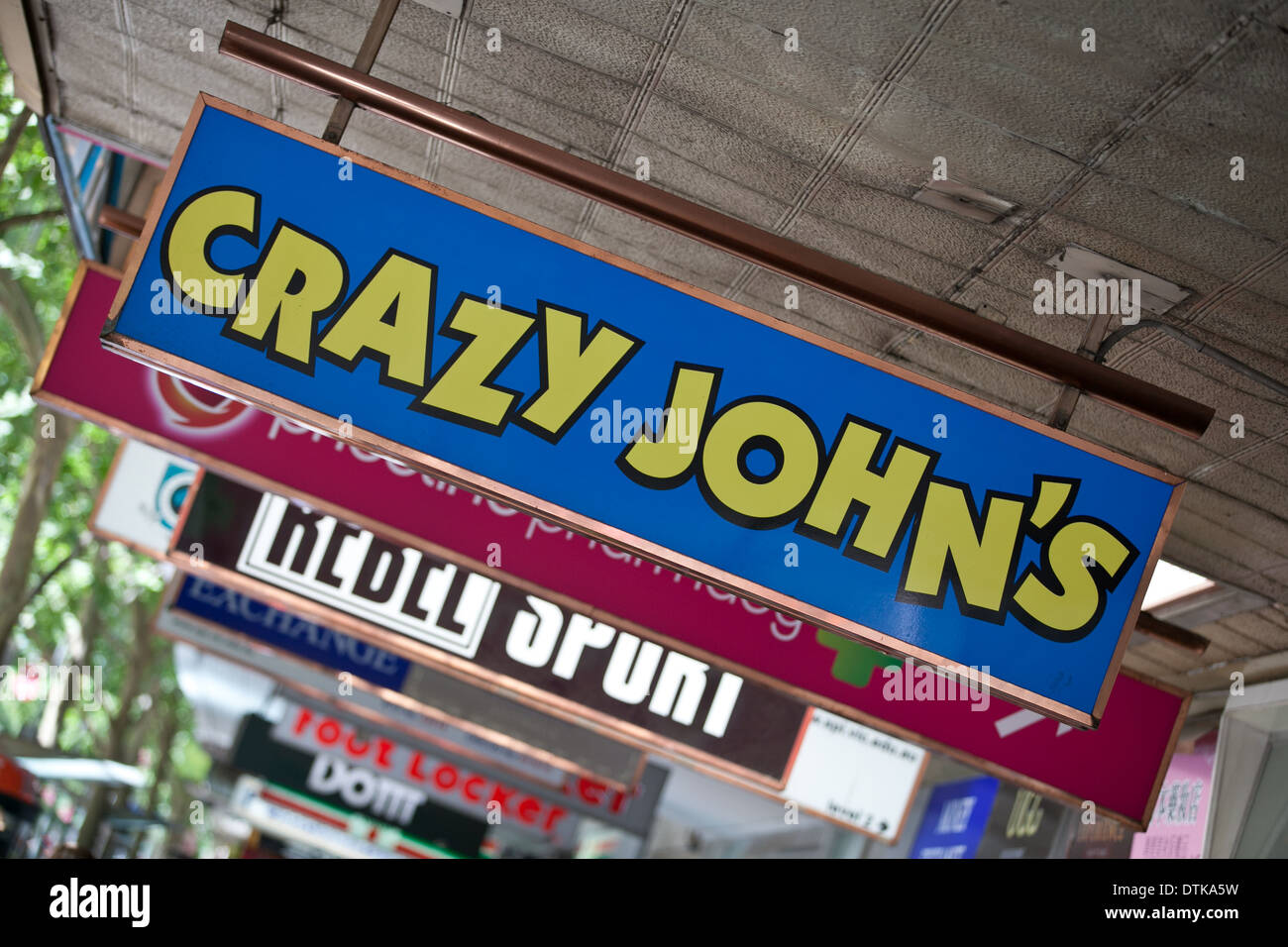 Crazy John's mobile phone store, Melbourne Photo Stock
