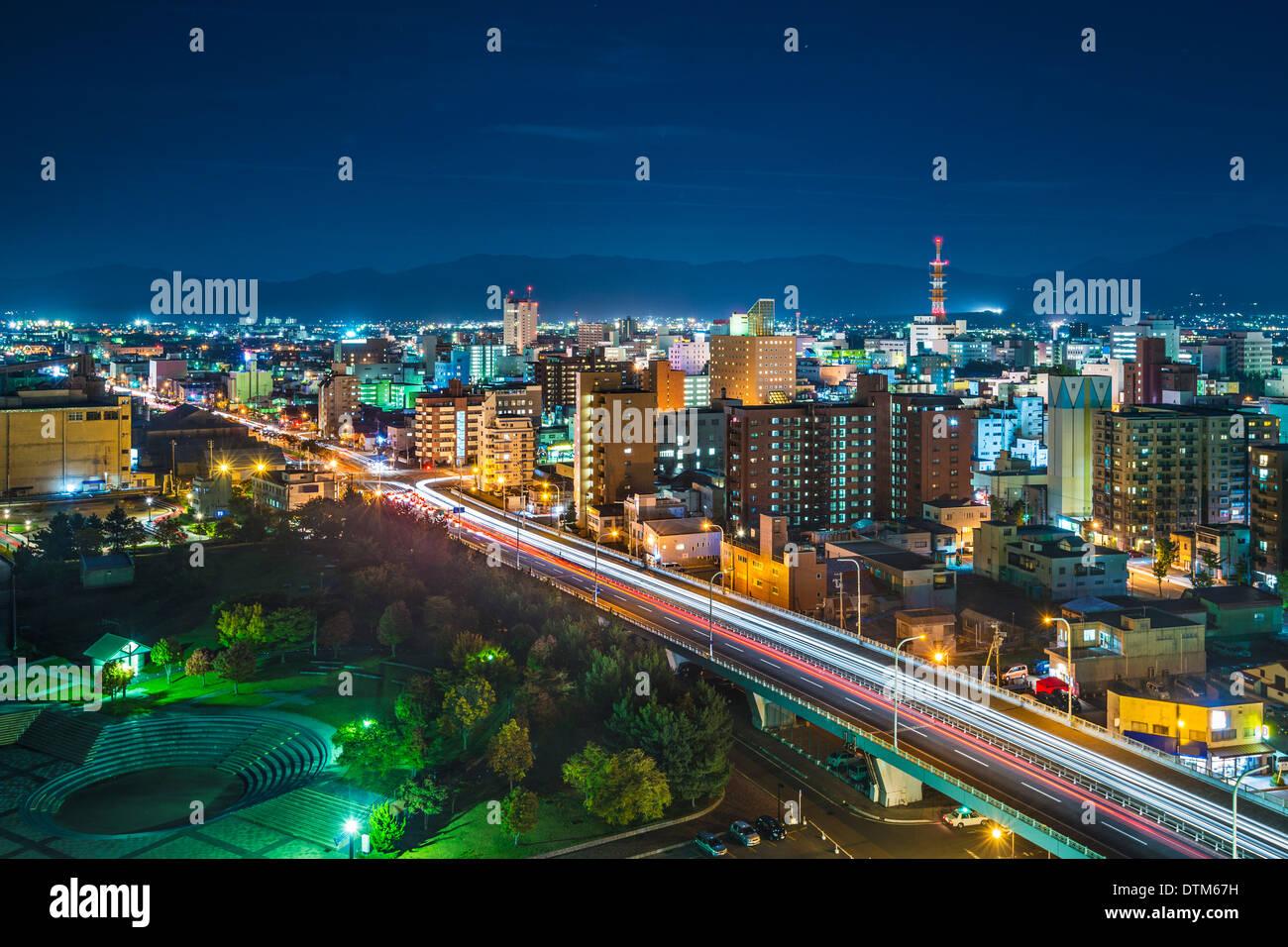 La Ville d'Aomori, la Préfecture d'Aomori, au Japon. Photo Stock