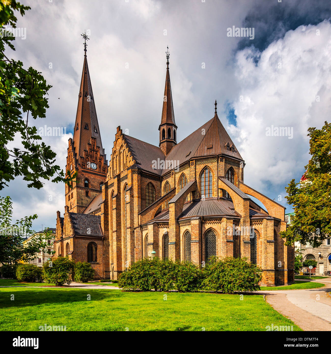 Eglise de Saint Pierre à Malmö, Suède. Photo Stock