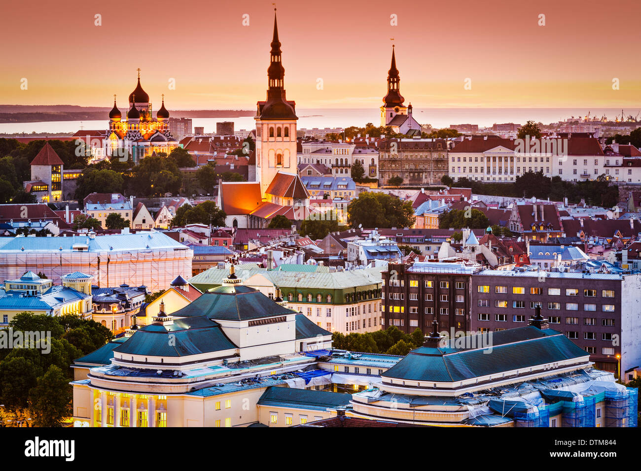Tallinn, Estonie vue sur la vieille ville. Photo Stock