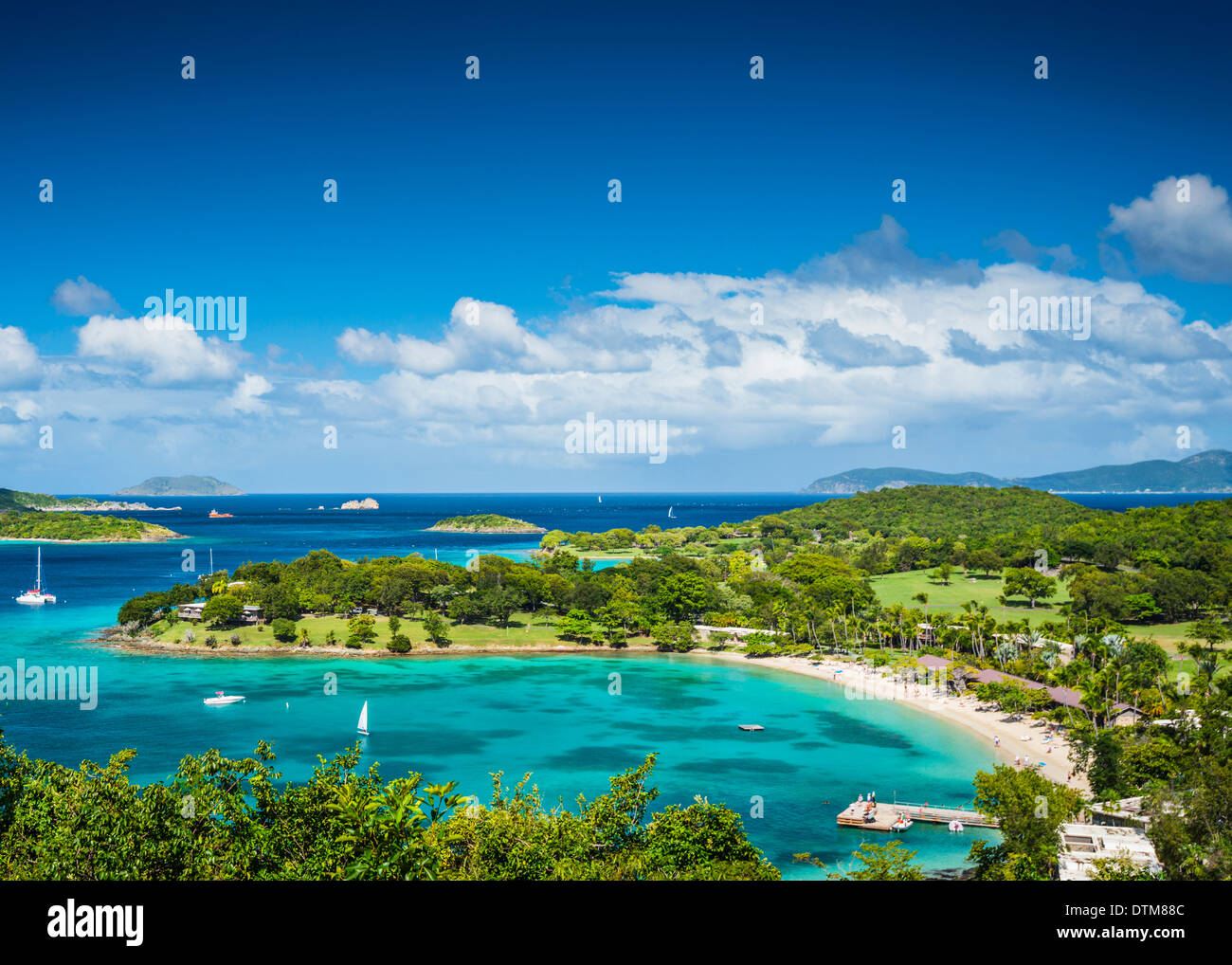 St John, îles Vierges américaines à Caneel Bay Photo Stock