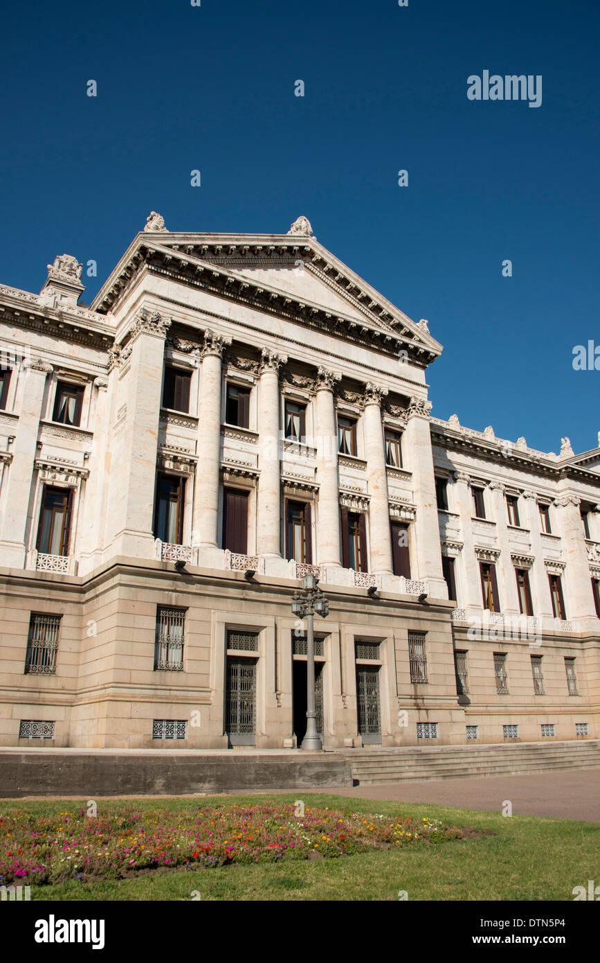 L'Uruguay, Montevideo. Palais législatif historique, siège de Parlement uruguayen. Circa 1908-1925. Photo Stock