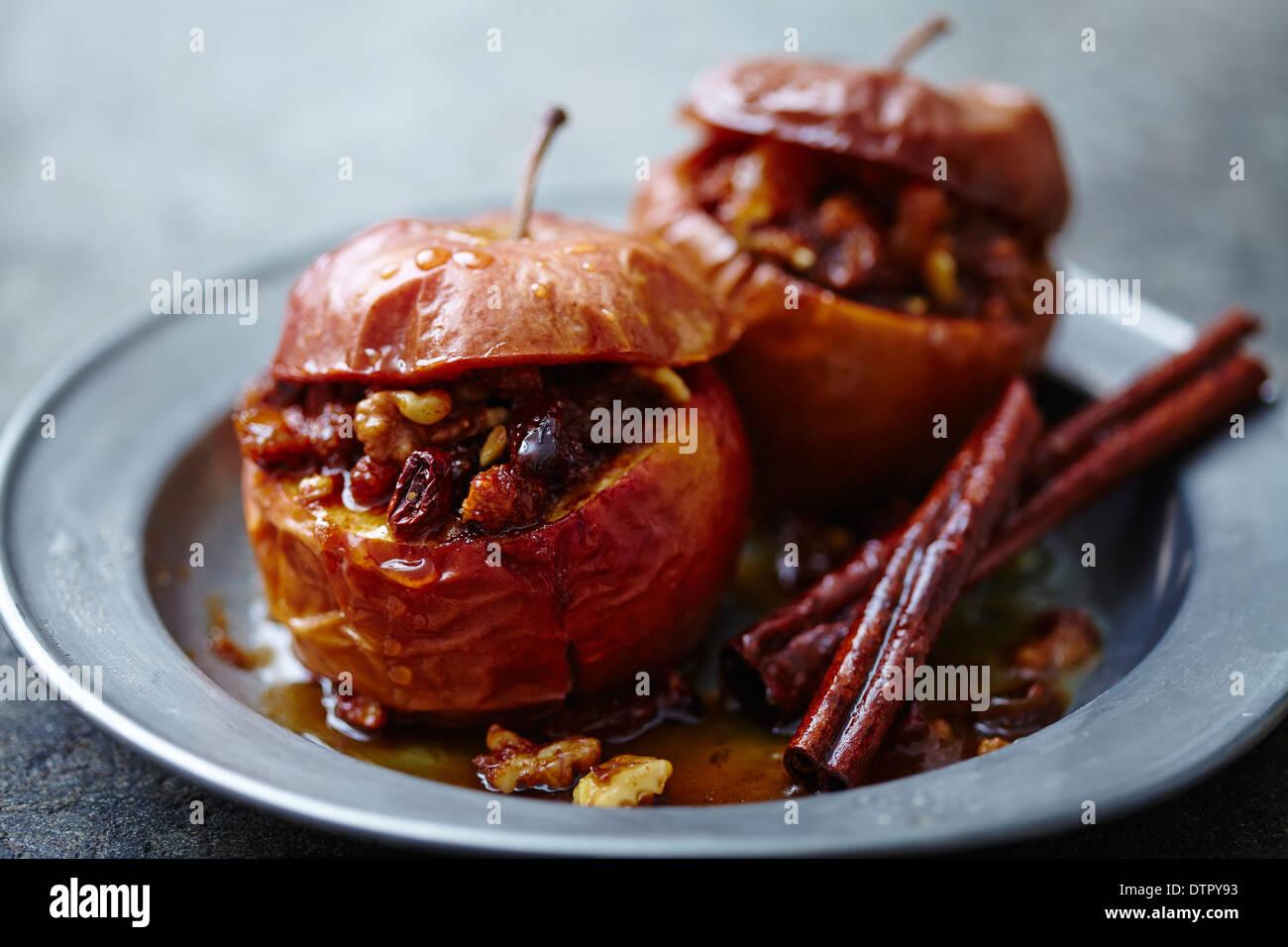 Farci, Pommes au four Photo Stock