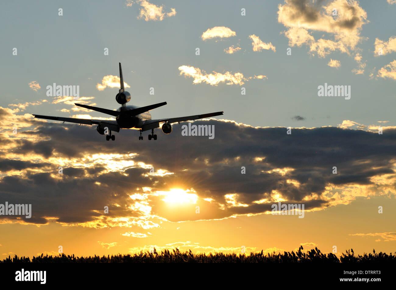 Les voyages aériens à l'Aéroport International de Philadelphie à Philadelphie, Pennsylvanie. Photo Stock
