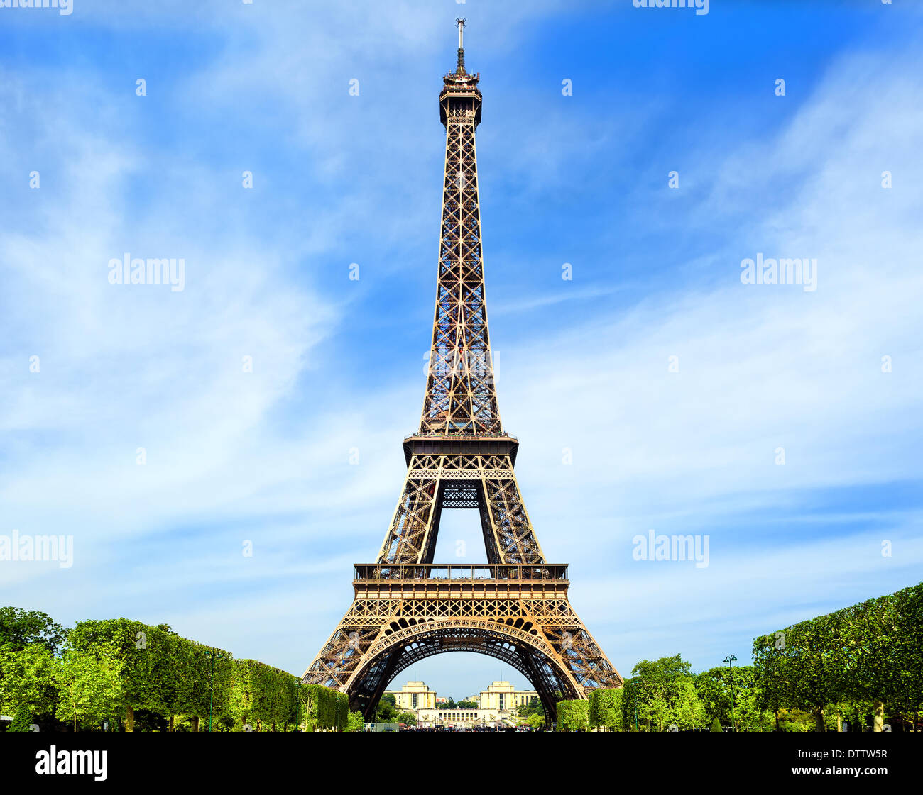 Fantastic Tour Eiffel à Paris Photo Stock