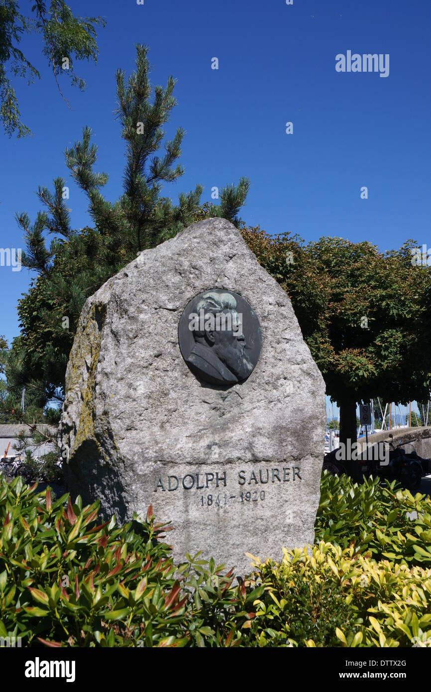 Adolph saurer arbon,suisse,memorial Banque D'Images