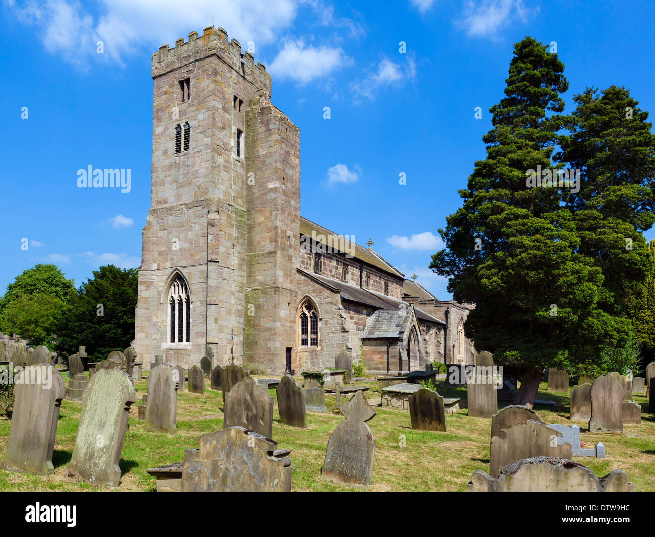All Saints Church, dans le pittoresque village de Ripley, North Yorkshire, England, UK Photo Stock