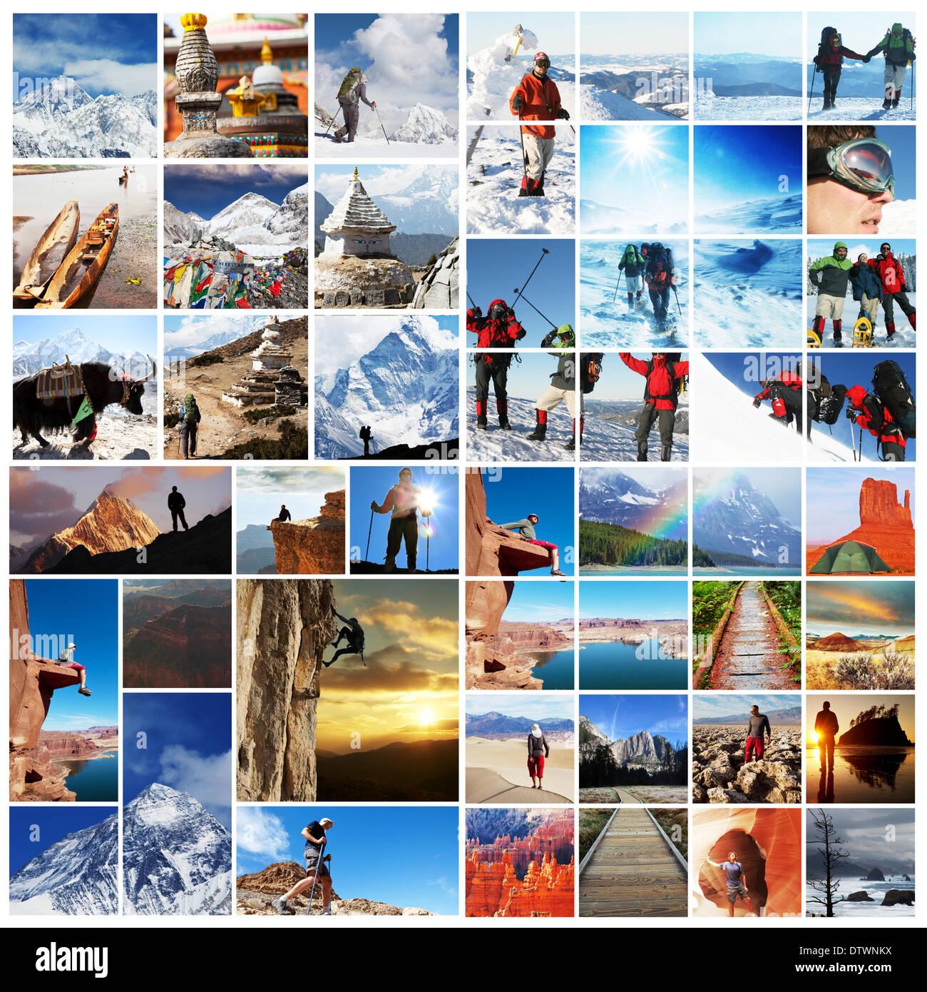 Randonnée de collage Photo Stock