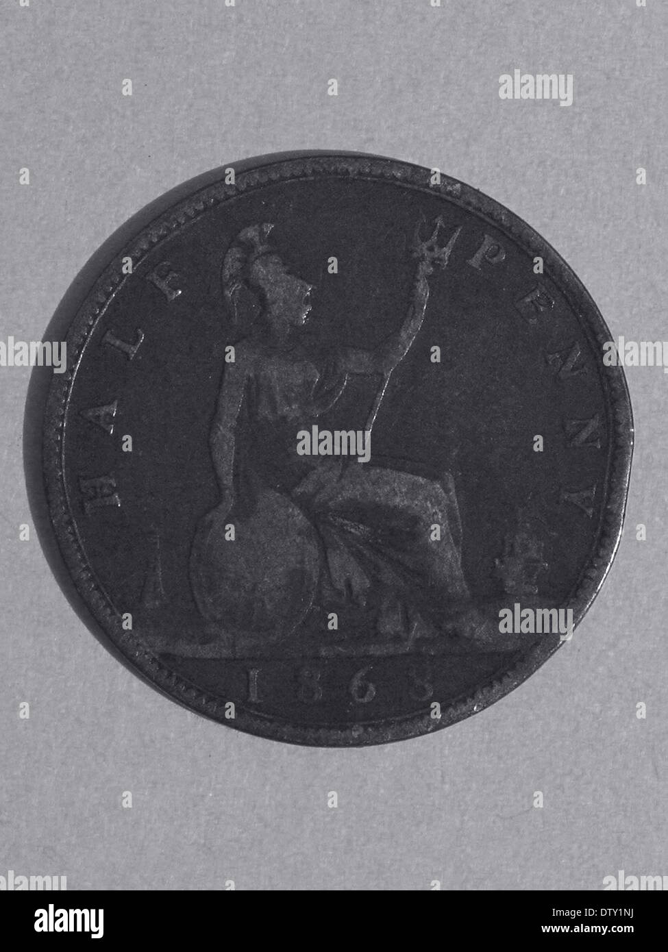 Demi-penny Australien 1868 Photo Stock