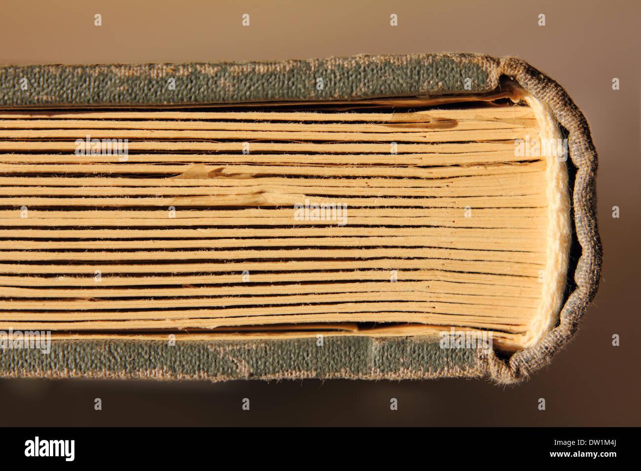 Vieux livre avec pages de carton Photo Stock