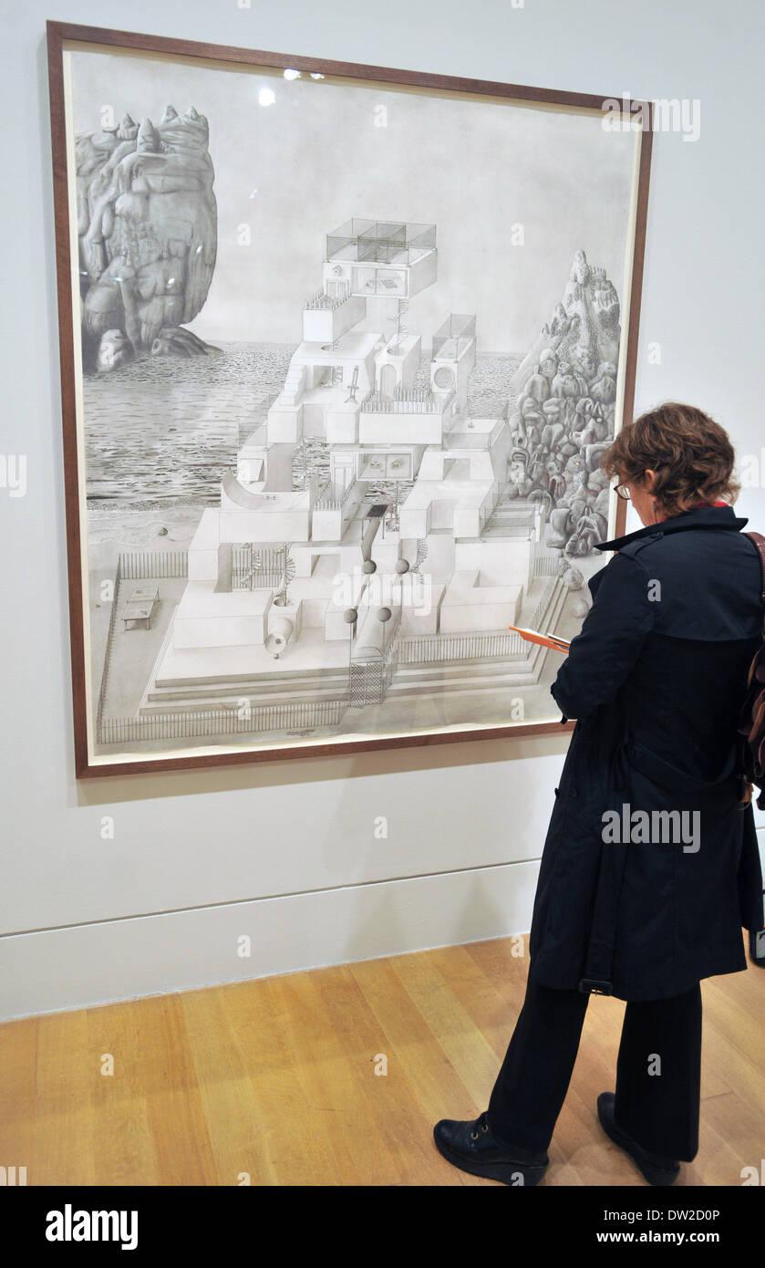 Travail par Paul Noble Turner Prize 2012 - appuyez sur Afficher. Quatre artistes présélectionnés showcase travail Banque D'Images