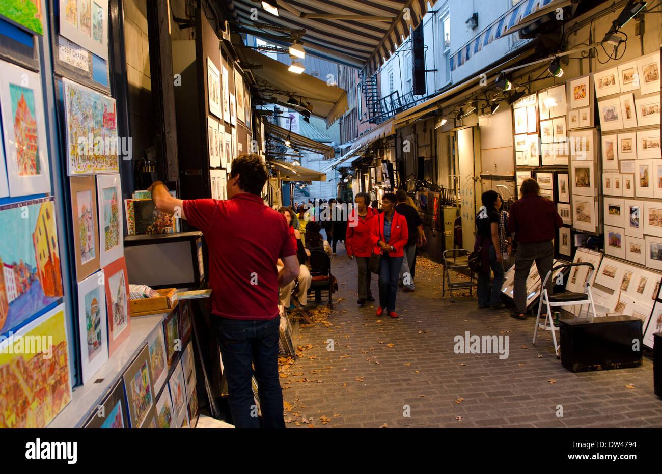 Cote Artiste Peintre Francais la ville de québec québec canada scène de rue des artistes