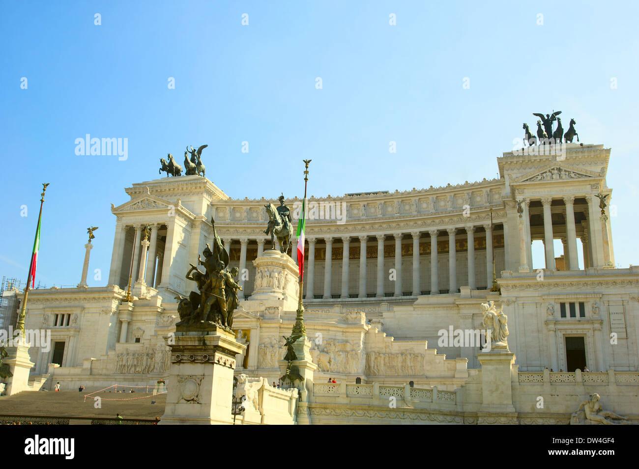 Monument équestre de Victor Emanuel II près de Vittoriano à Rome, Italie Photo Stock