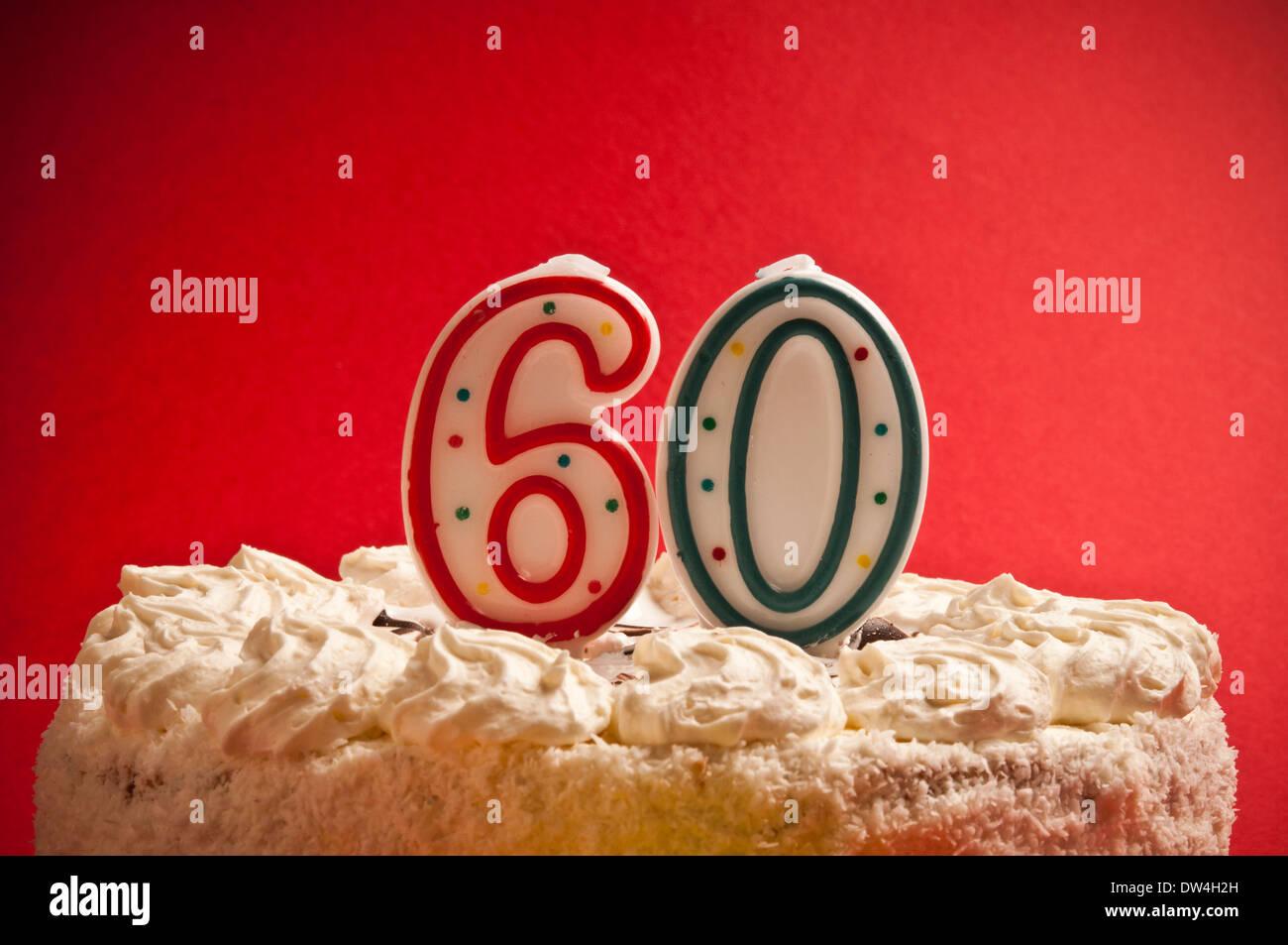Gâteau Danniversaire 60 Ans Banque Dimages Photo Stock 67098713