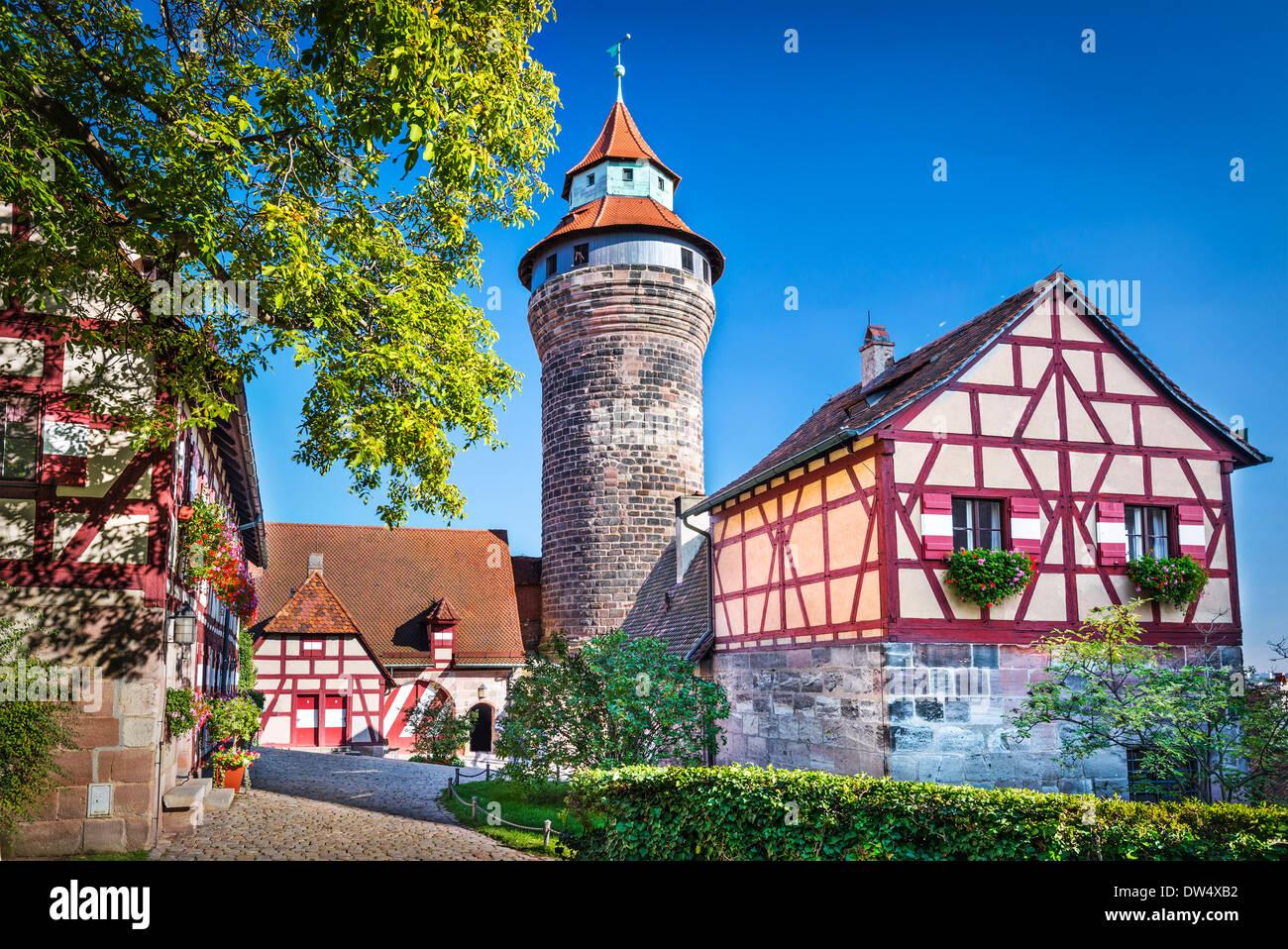 Château de Nuremberg à Nuremberg, Allemagne. Photo Stock