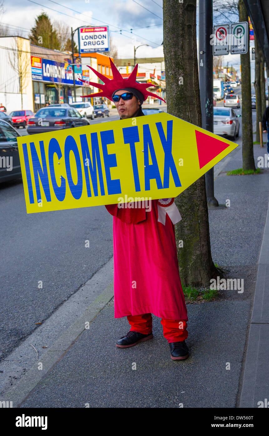 Temps de l'impôt sur le revenu Photo Stock
