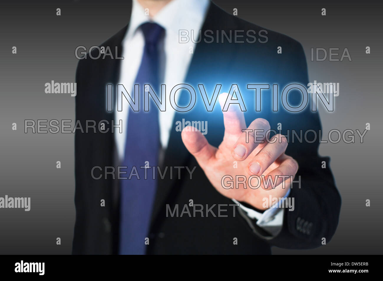 Concept de l'innovation Photo Stock