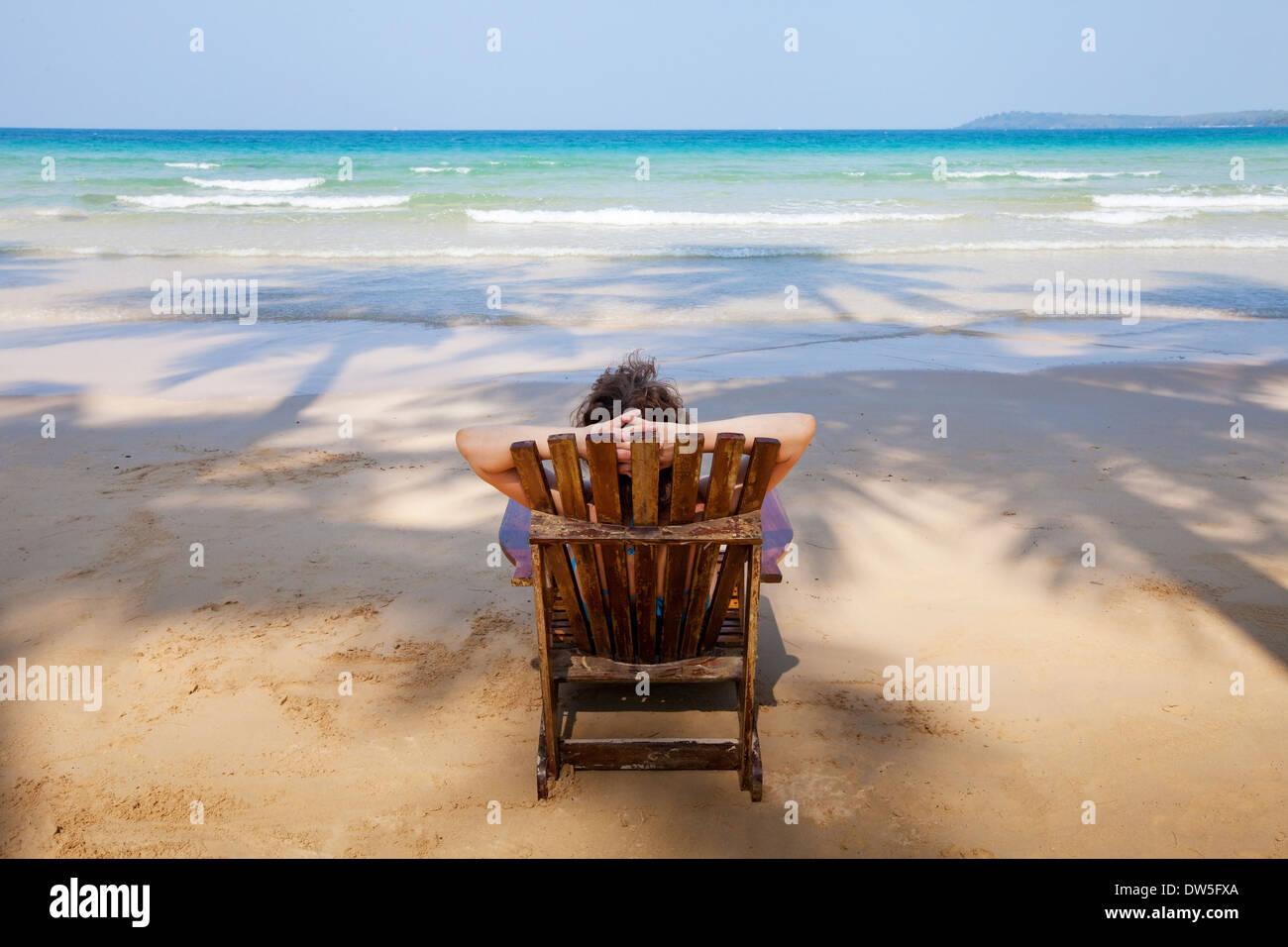 Lonely beach Photo Stock