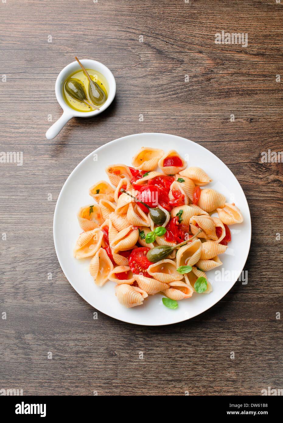 Pâtes aux légumes Photo Stock