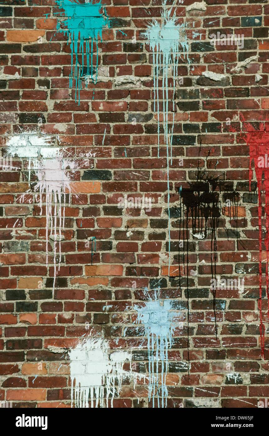 Des éclaboussures De Peinture Murale De L Oeuvre D Art De