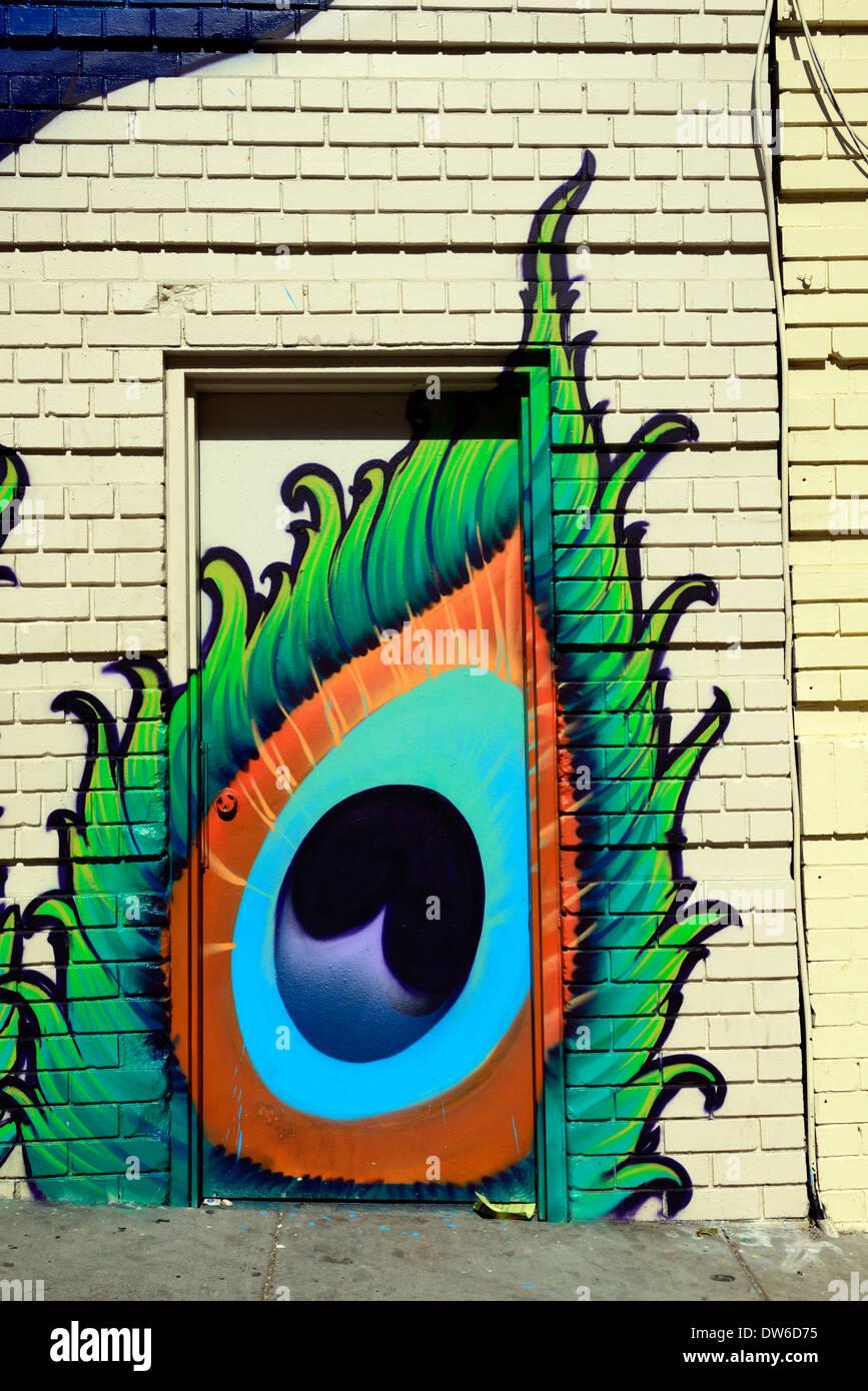 Street Art Graffiti Peinture Murale Oeil Porte San Francisco
