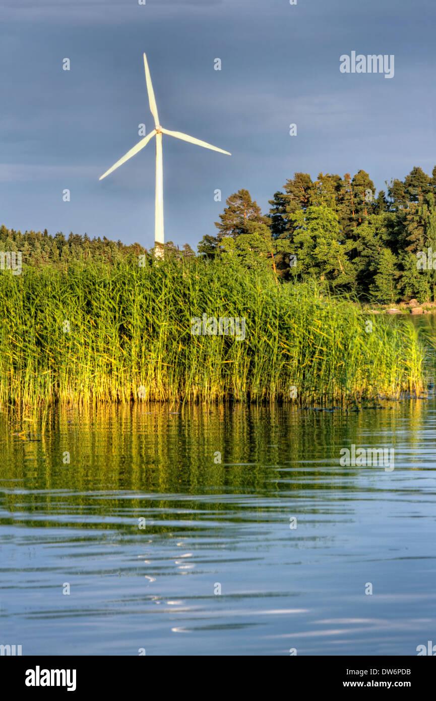 Arrière-plan de l'énergie éolienne Photo Stock
