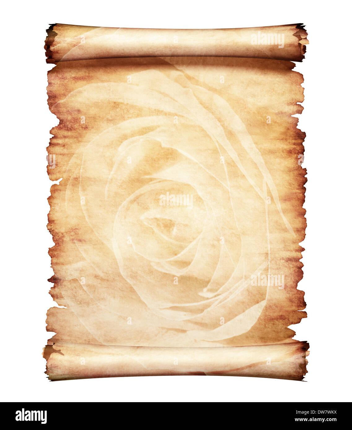 vieux morceau de papier parchemin rose romantique avec design floral fond lettre artistique. Black Bedroom Furniture Sets. Home Design Ideas