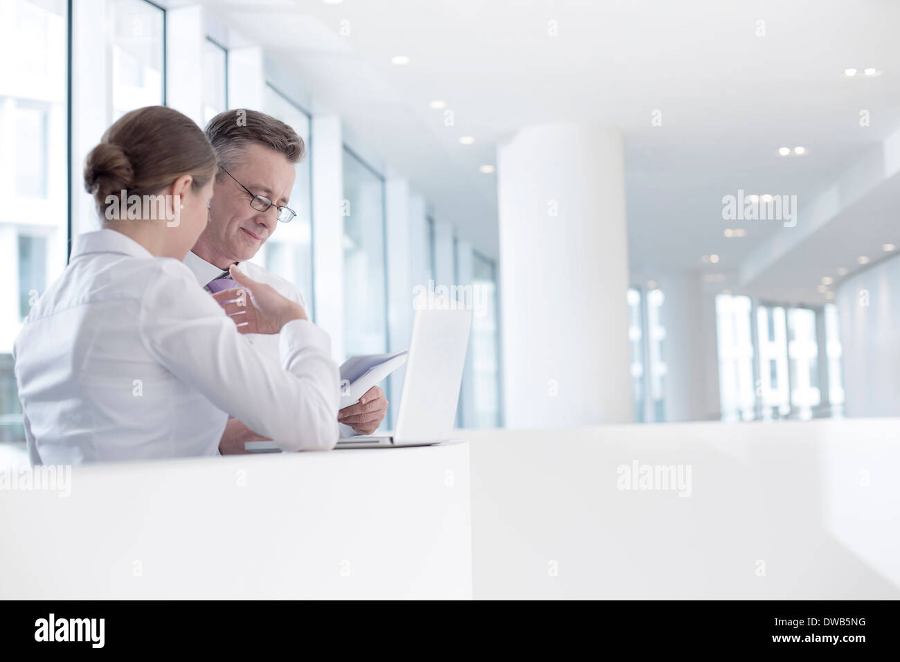Business people railing in office Photo Stock