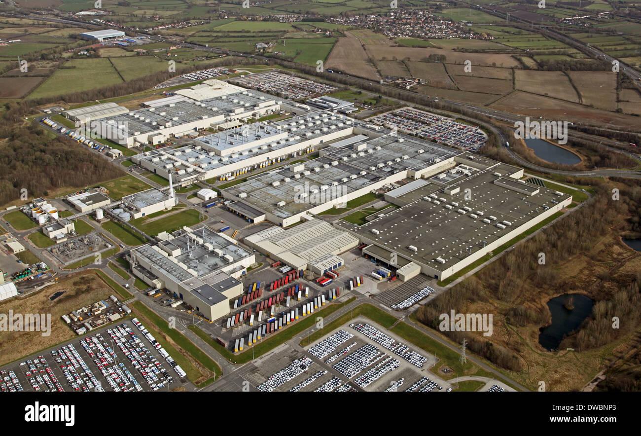 Vue aérienne de l'usine automobile Toyota à Burnaston près de Derby, Toyota Motor Manufacturing UK Limited Photo Stock