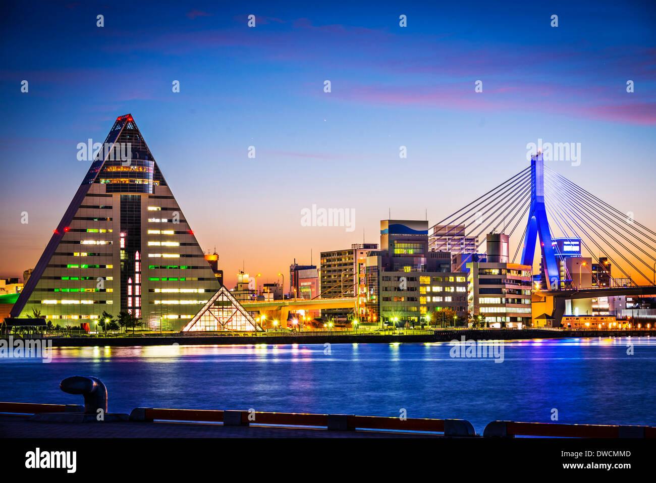 La Ville d'Aomori, Japon dans le nord de la région du Tohoku. Photo Stock