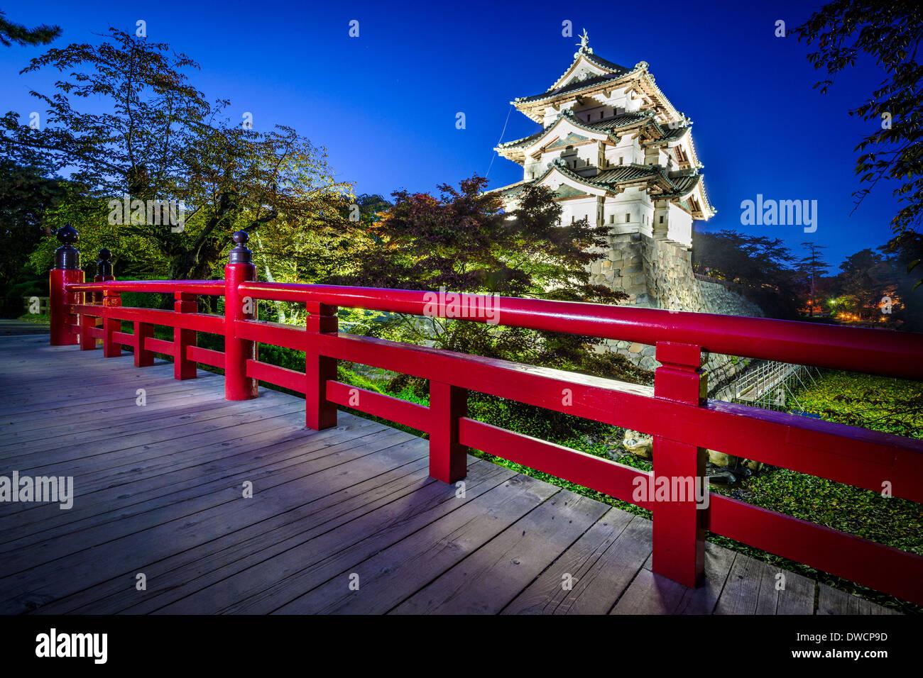 Hirosaki, Japon au château d'Hirosaki qui date de 1611. Photo Stock
