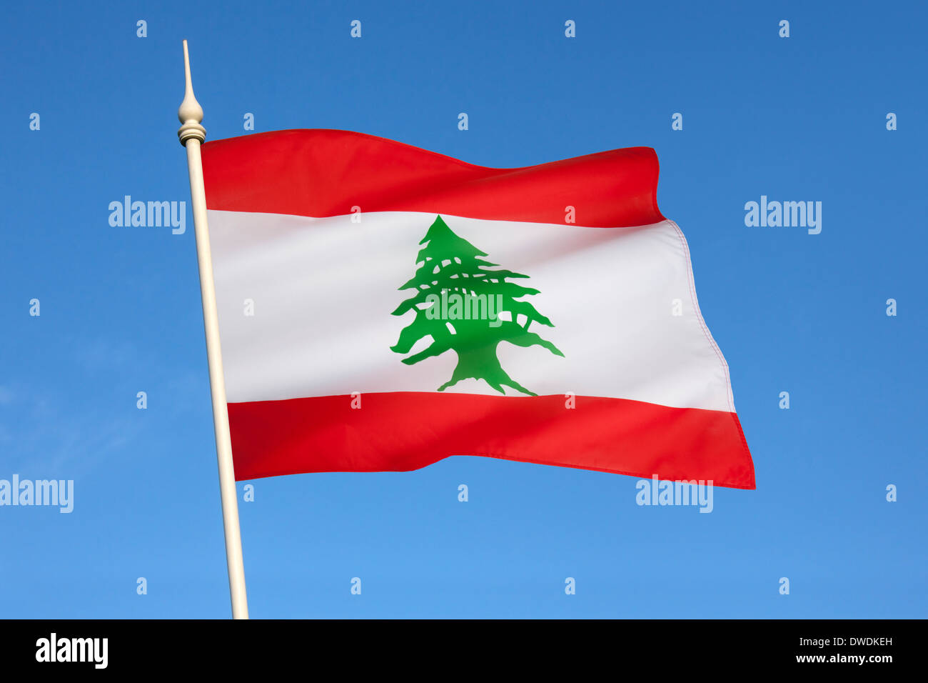 Le drapeau du Liban Photo Stock