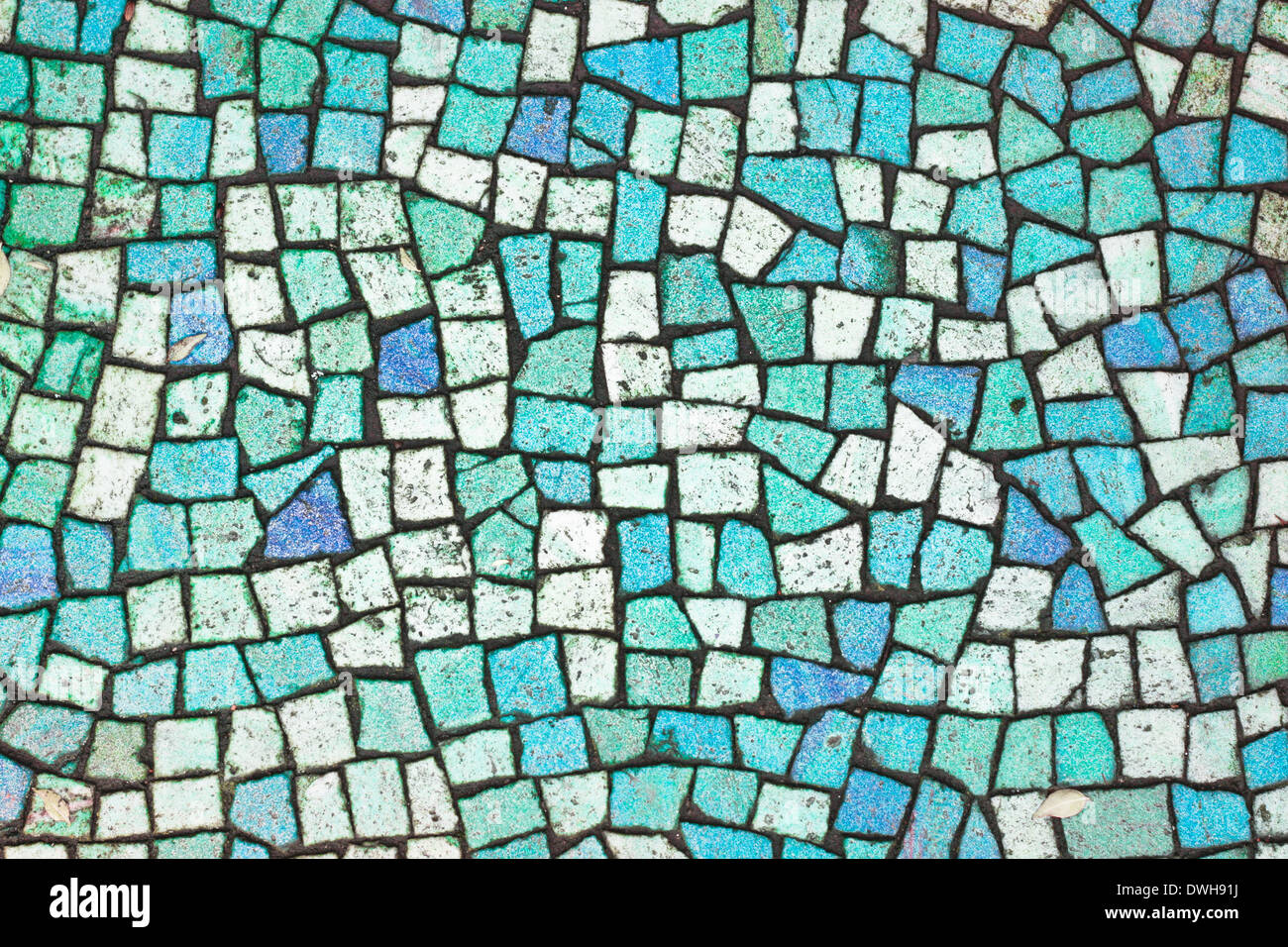 Bleu turquoise et de carreaux de mosaïque en arrière-plan Banque D ...
