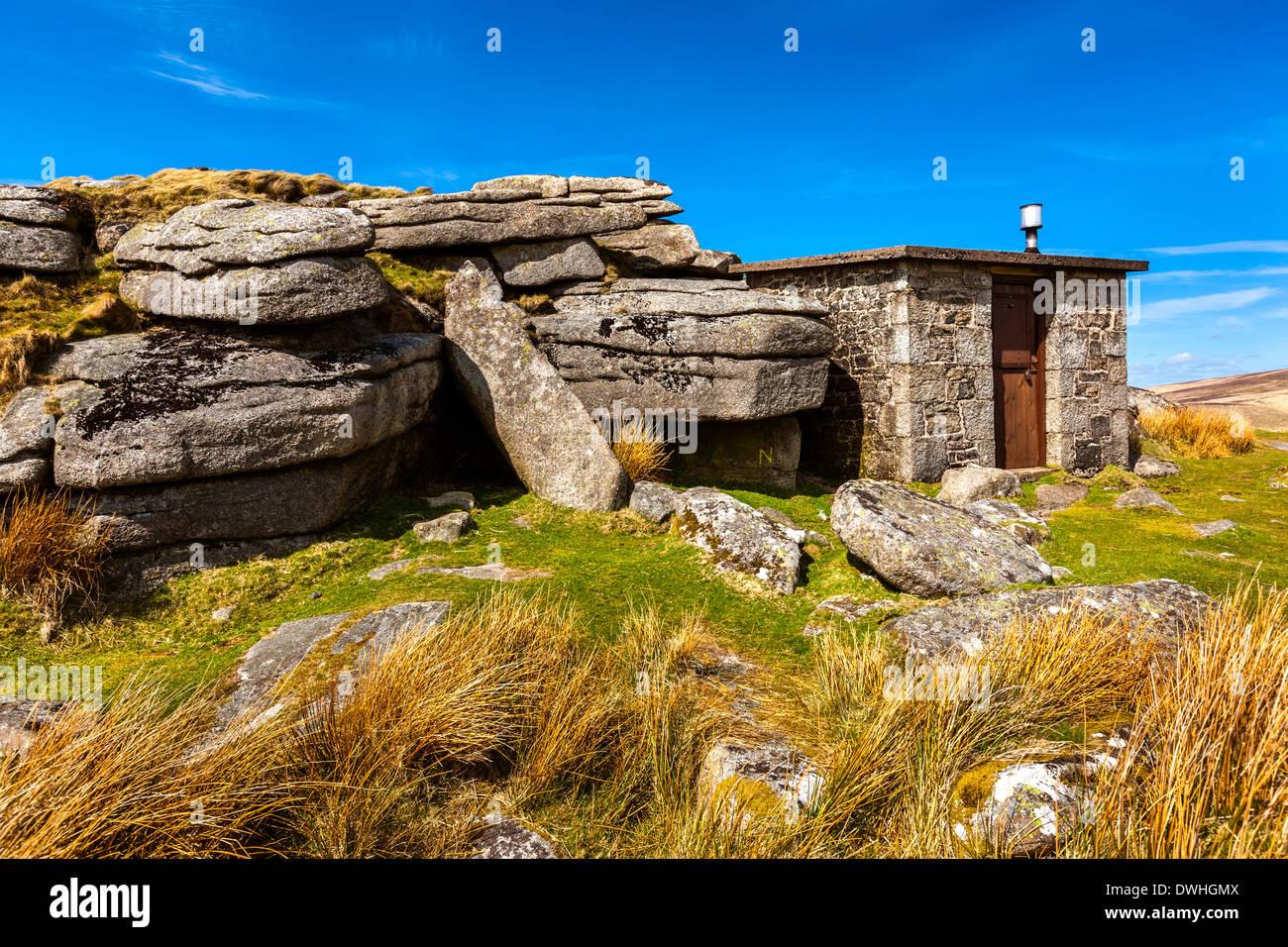 Oke Tor, Dartmoor National Park, Belstone, l'ouest du Devon, Angleterre, Royaume-Uni, Europe. Photo Stock