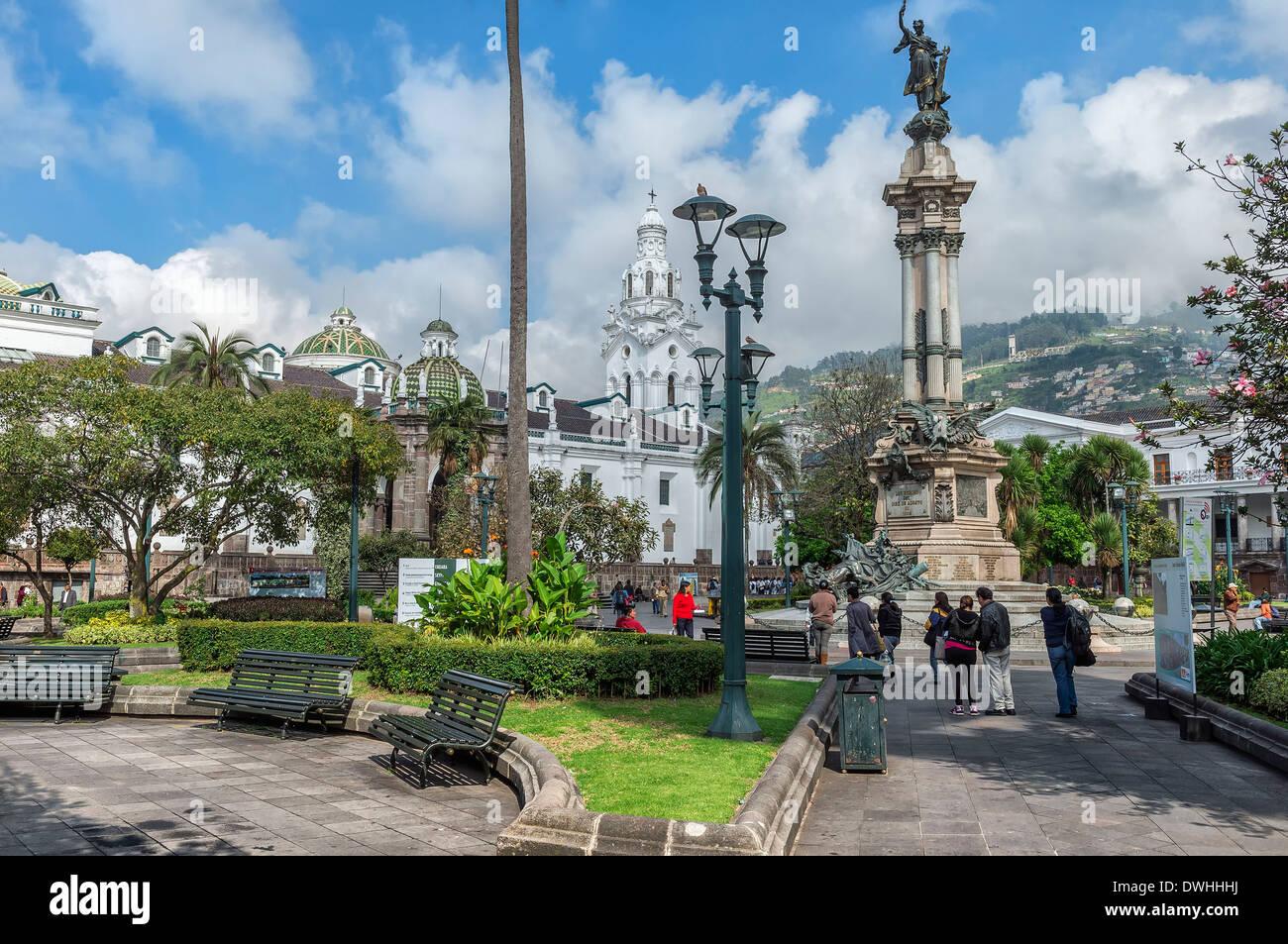 Quito - place de l'indépendance Photo Stock
