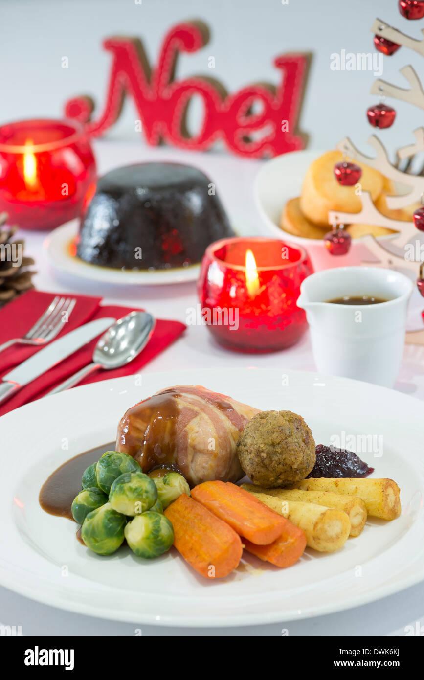 Le dîner de Noël Photo Stock