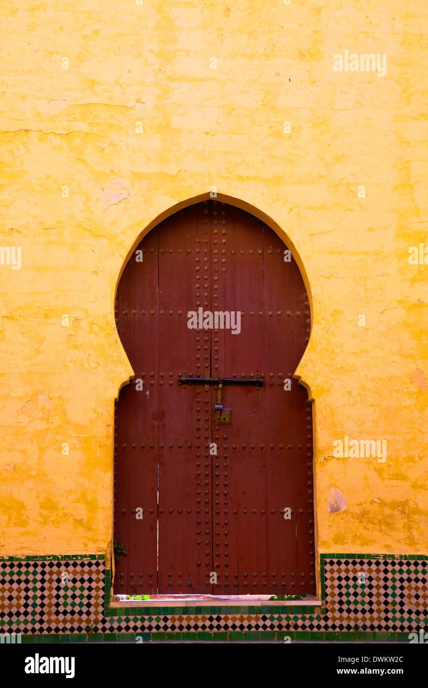 Gate à Médina, Meknès, Maroc, Afrique du Nord, Afrique Photo Stock