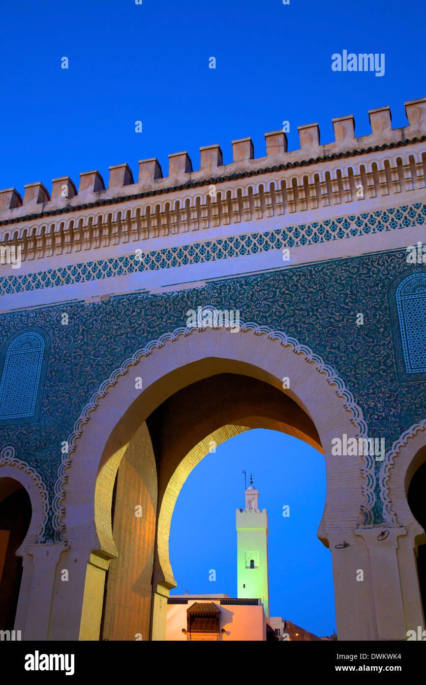 Bab Bou Jeloud, Fès, Maroc, Afrique du Nord, Afrique Photo Stock