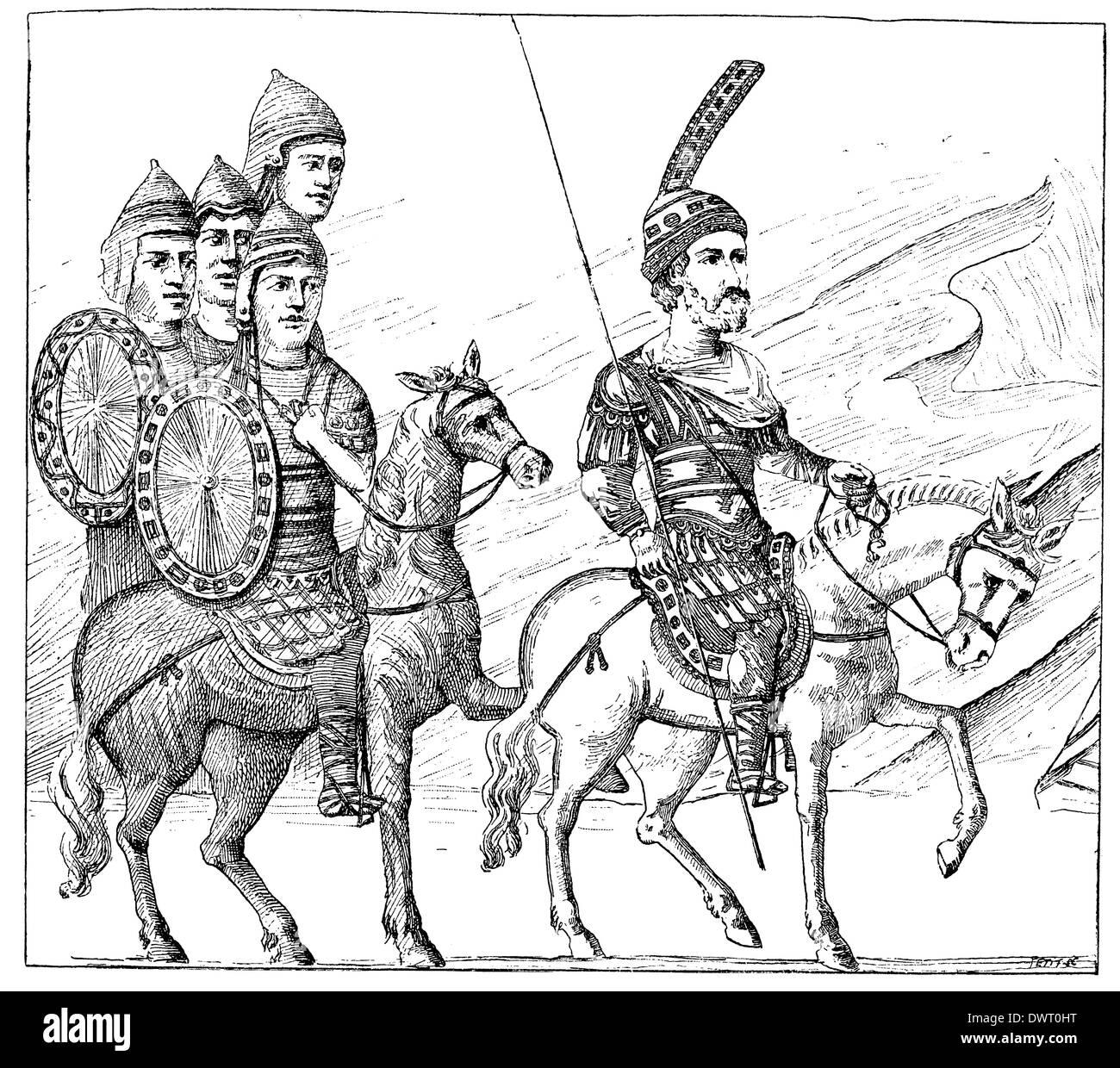 Guerrier byzantin Banque D'Images