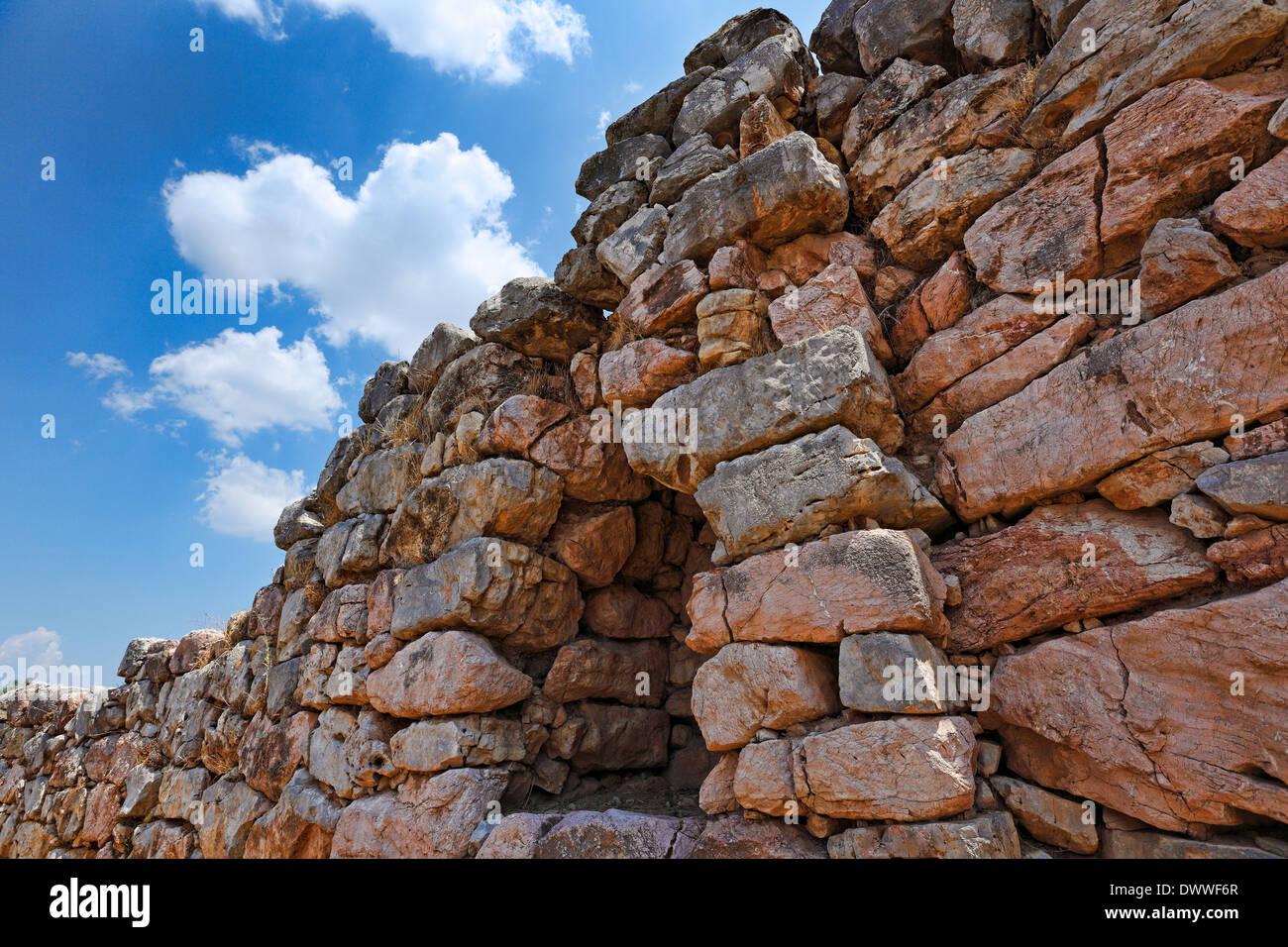Les murs cyclopéens de Tirynthe (1,400 - 1,200 avant J.-C.), Grèce Photo Stock
