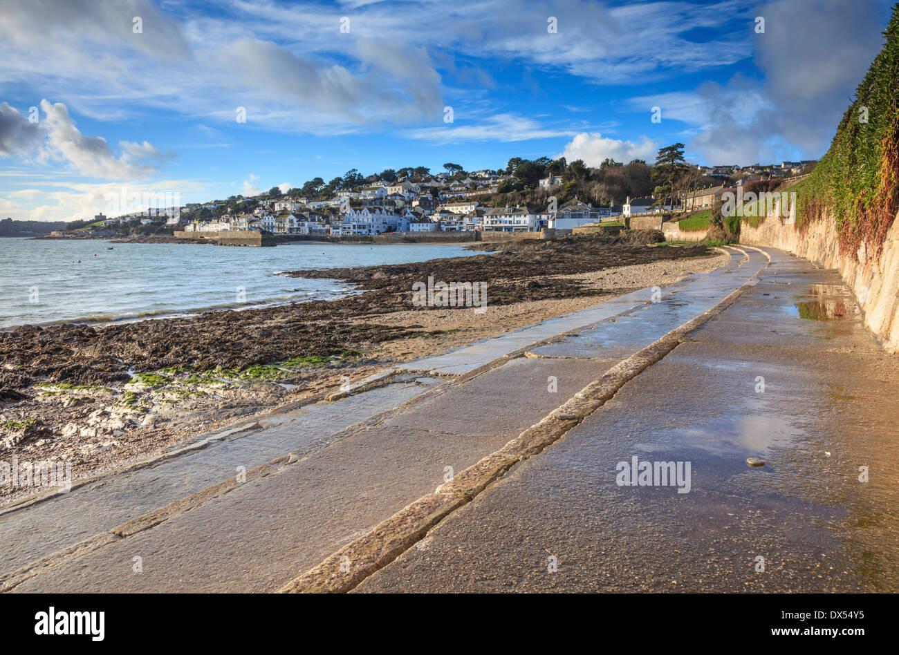 ST Mawes Cornwall en hivers capturées sur un après-midi Photo Stock