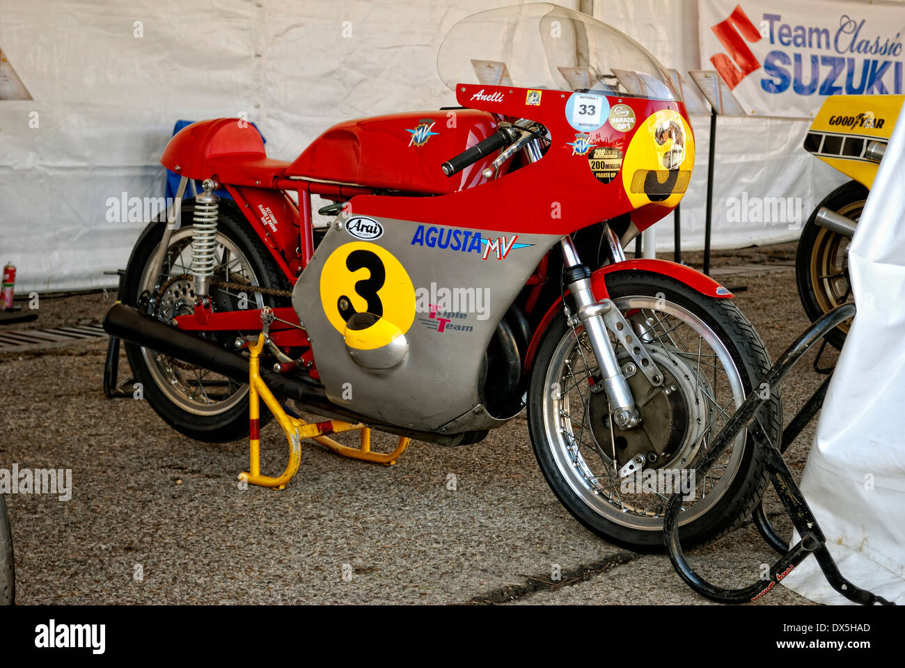 Roberto Anelli, MV Agusta 500-3 Banque D'Images