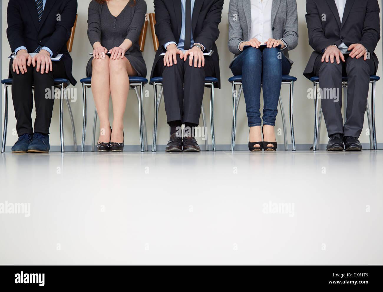 Portrait de personnes dans l'attente Banque D'Images