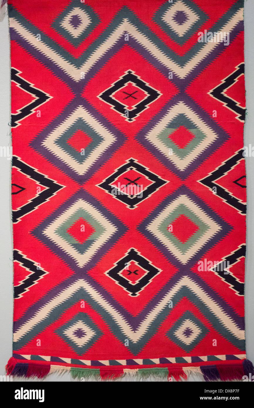Germantown Navajo blanket ca 1880; Musée d'Art de Palm Springs, Palm Springs, California USA Photo Stock