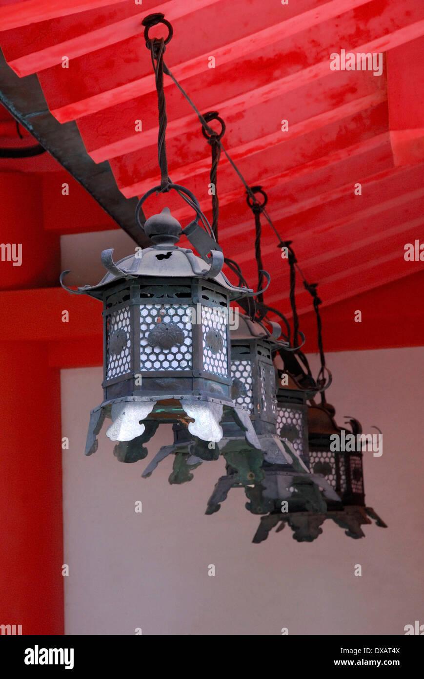 Lanternes, Kasuga Taisha Photo Stock