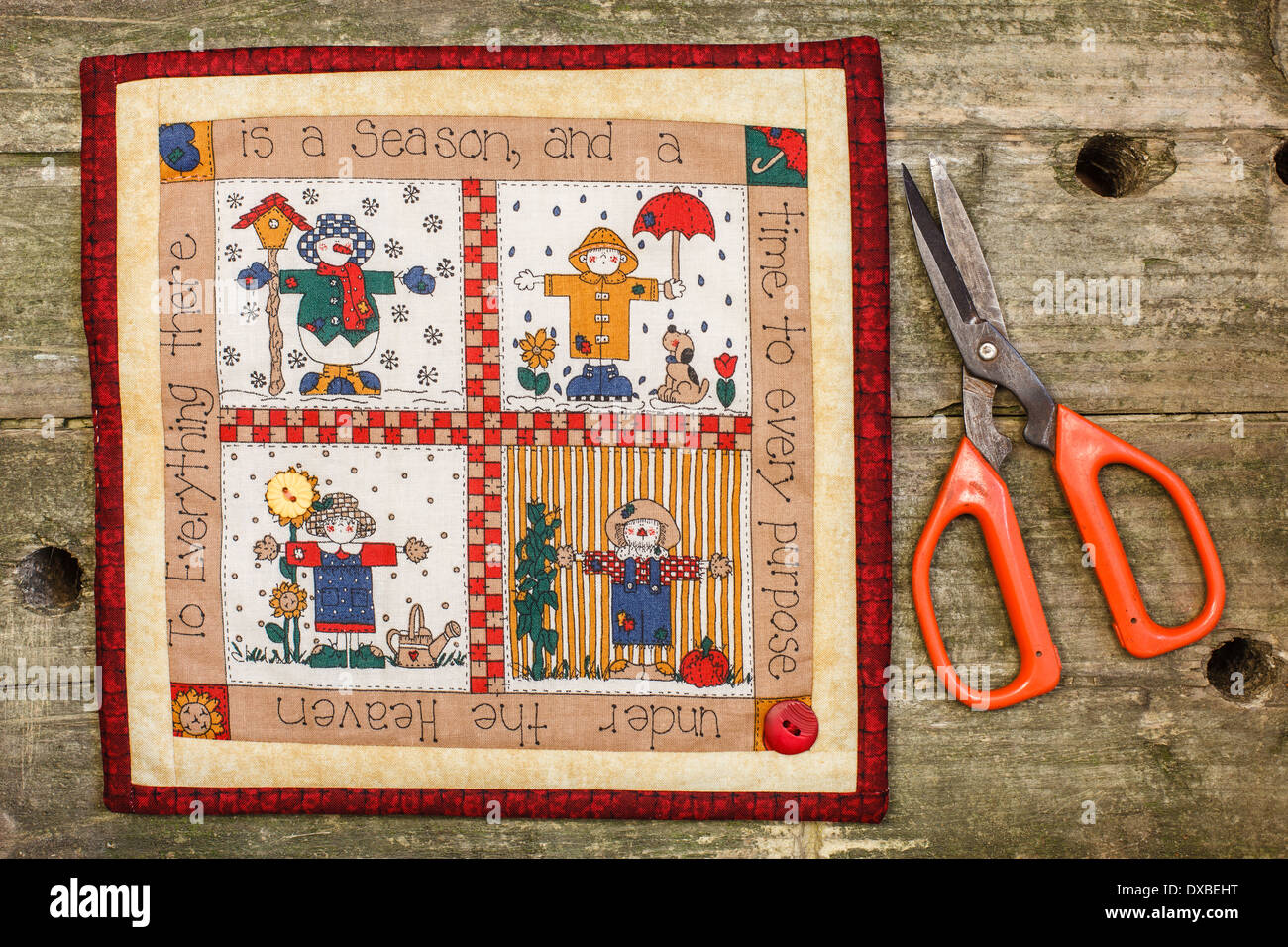 Patchwork quatre saisons Photo Stock