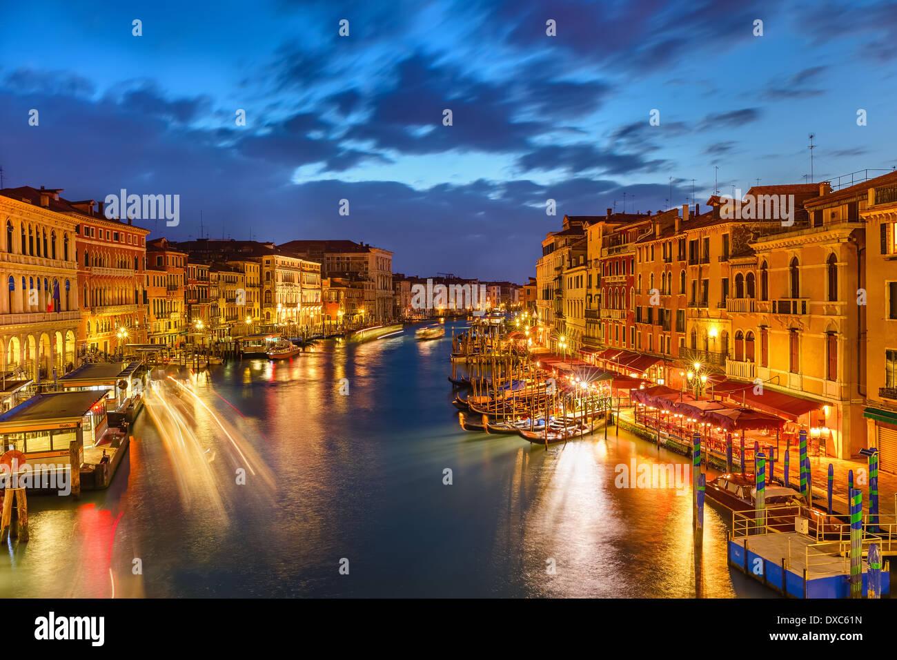 Venise de nuit Photo Stock